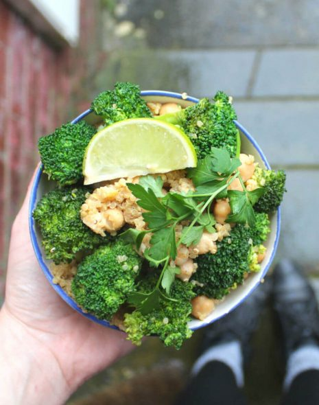 Broccoli & Quinoa Salad with Chickpeas