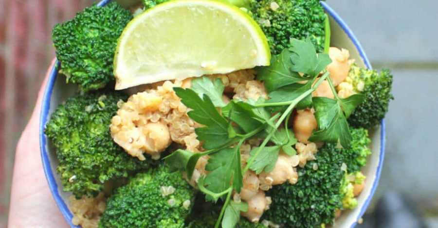 Broccoli & Quinoa Salad with Chickpeas