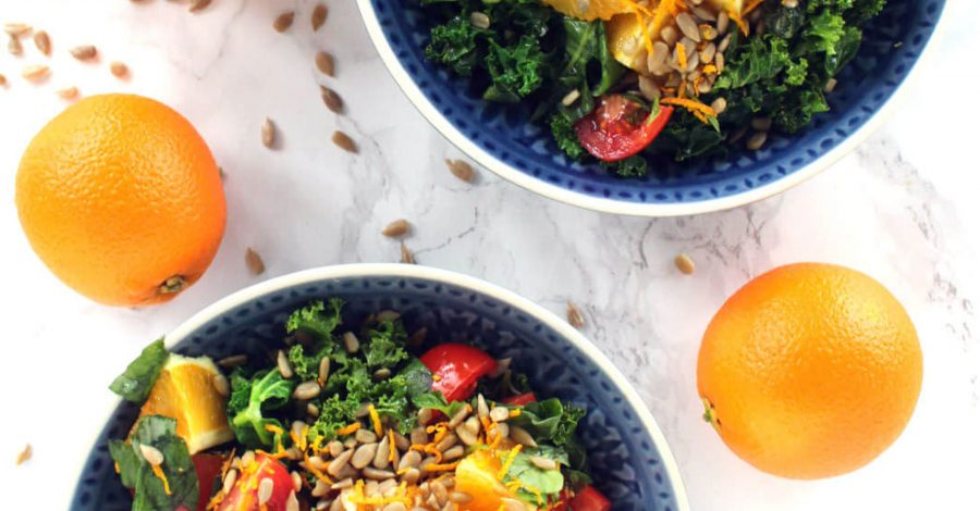 Orange, Tomato & Sunflower Seed Salad