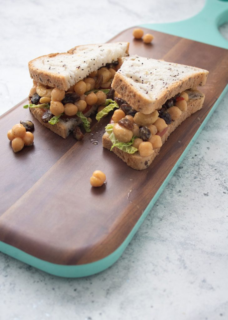 Coronation chickpea sandwich