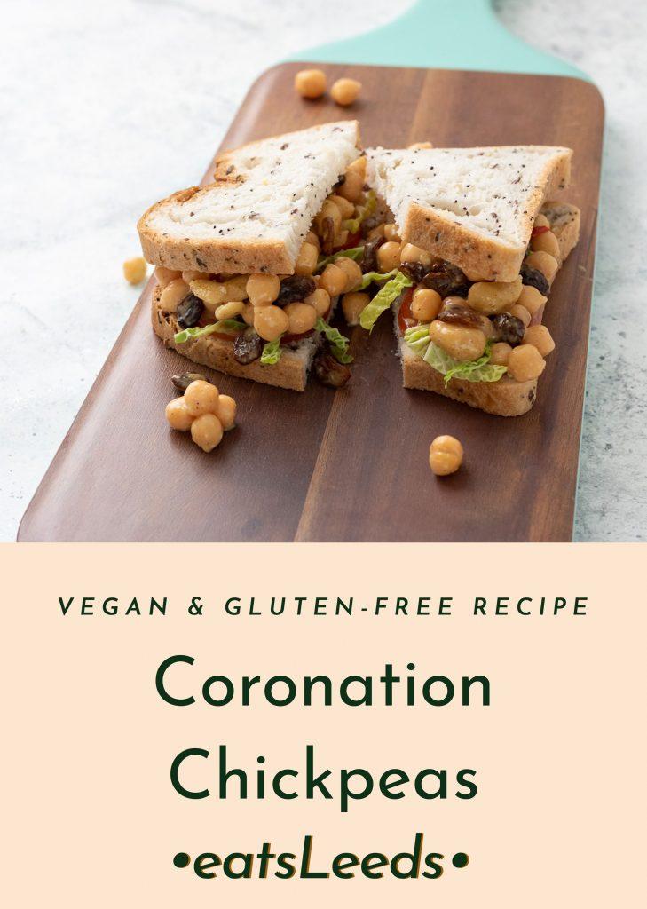 Vegan coronation chicken alternative: coronation chickpeas